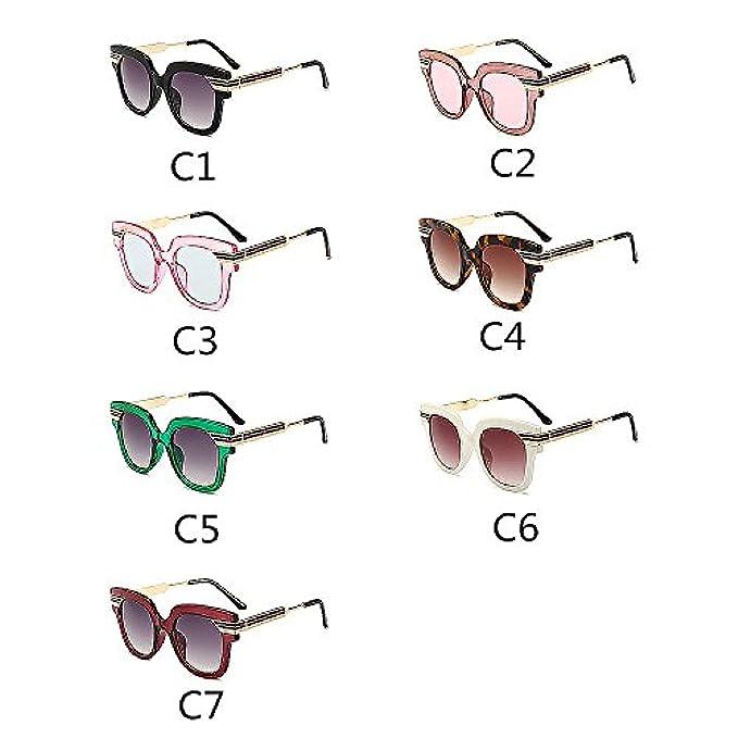 colore Bicchieri Uv Strisce Y-weifeng Colorate Con Outdoor Occhiali Viaggiare Colore Da Unisex Lenti Di C4 Sole Driving Oversize Protezione