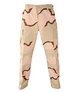 GI Issue 3 Color Desert DCU Camo Ripstop Trousers / Pants Size Small X-Short