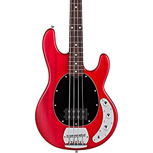 sterling by music man s u b series ray4 stingray bass translucent red satin