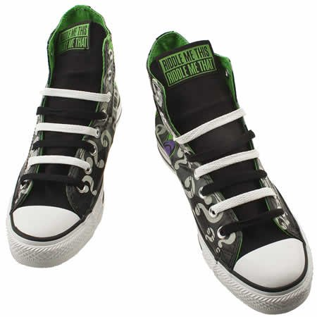 8d6633d882f7 Converse As Dc The Riddler Hi - 9 Uk - Black   Grey - Fabric  Amazon.co.uk   Shoes   Bags