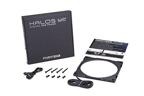 Phanteks Halos Lux Digital LED 120mm Fan Frame Alum, Black (PH-FF120DRGBA_BK01)