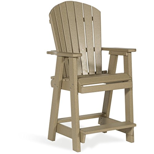 Leisure Lawns Amish Made Recycled Plastic Balcony Chair Model #75 - Ships Free Within 2 to 3 Weeks -