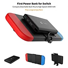 10000mA Portable Charger Power Bank for Nintendo Switch - Rechargeable Extended Battery Charger Case - Compact Travel Backup Battery Pack for Nintendo Switch by Tiangtech