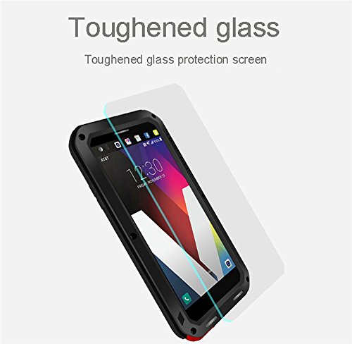 LG V30 V35 Waterproof Case, Hwota Shockproof Waterproof Dust/Dirt/Snow Proof Aluminum Metal Case Heavy Duty Protection Case Cover for LG V30 V35 (Silver) by Hwota (Image #2)