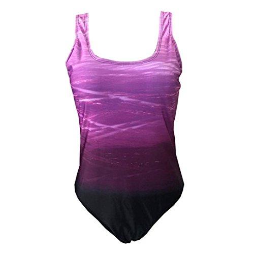 Zippé Classique Été Vintages Femme Bikinis Durée De Violet Col Maillots Bain Rainbow À Limitée 1 Pièces Sanfashion XqPStS