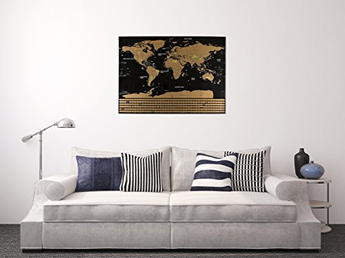 Scratch Off World Map Poster – US States Outlined, Travel Scratch Off Map of the World, Perfect Travel Gift by Jungle Merchant Photo #5