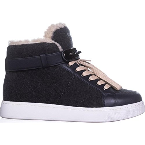 Lined Top Sneakers Coach Gray High Fashion Heathered Fleece Richmond Dark SwIwPxETq