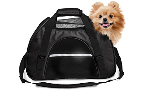 Furhaven Pet Tote | Pet Tote with Weather Guard, Black, Large