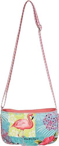 Flamingo Purse (Sandy Clough Tropical Paradise Flamingo Cotton Canvas Mini Crossbody Bag 1142)