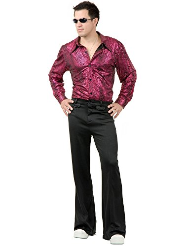 Charades Men's Snakeskin Disco Shirt, red/black Large ()