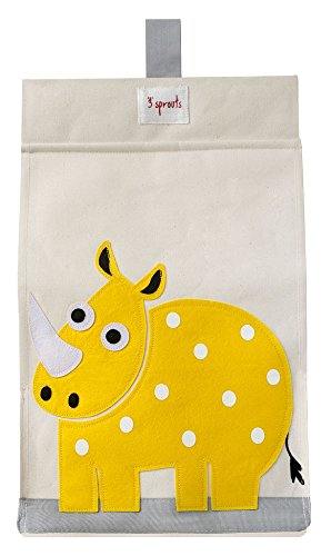3 Sprouts Diaper Stacker, Rhino/Yellow (Rhino Yellow)