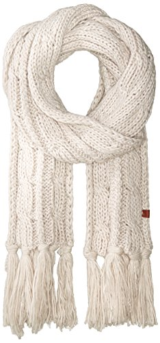 Bickley&Mitchell Women's Chunky Cable Knit Scarf With Fringes