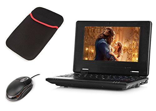 Macoku 7' Mini Notebook Laptop Netbook Android 4.4 VIA 8880 Cortex-A9 1.2ghz 4GB Storage With Wifi Hdmi Sd Card Usb Tablet Pc Come With Usb Mouse And Sleeve Bag - Black