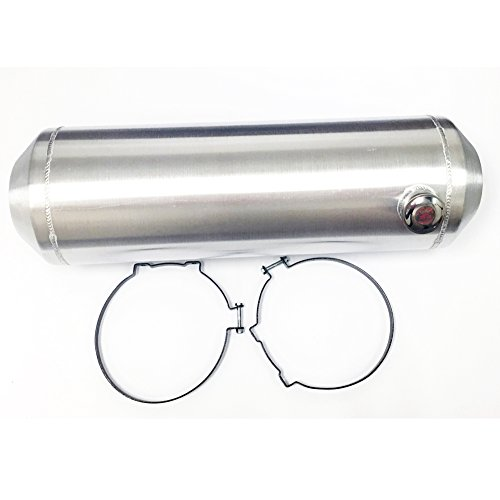 11 Gallon Round Spun Aluminum Hotrod Streetrod Fuel Cell Tank 10 x 33 Inch End (Aluminum Gas Tank)