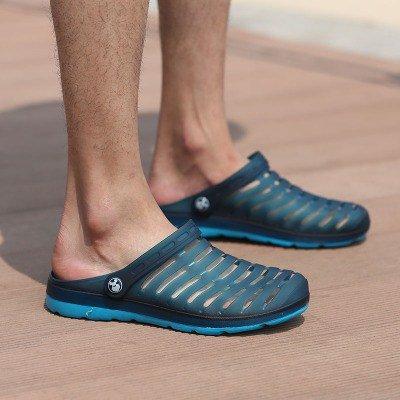 2cecc205751f7 Dark Uomini Foro 233 Di Dimensioni Xing Traspirante Scarpe Cool Lin Paio 1  Estate Sandali Grandi Pantofole Metà Blue Ciabatte Masterizzare Donne 5wBqH
