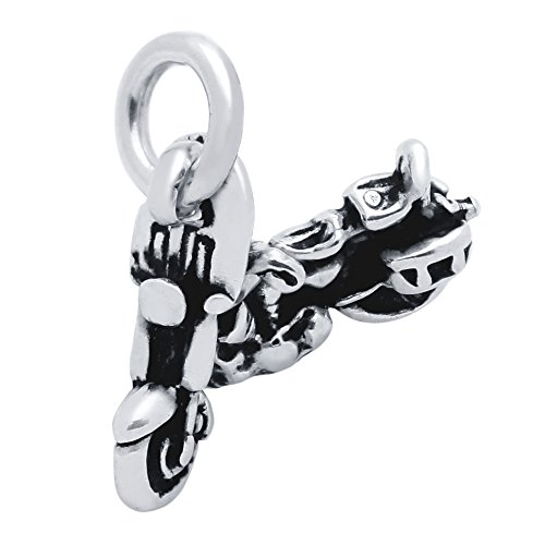925 Sterling Silver Motorcycle Charm