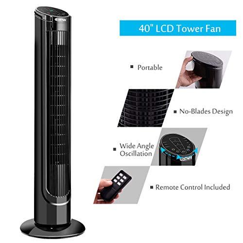 COSTWAY Fan Digital Control w/Remote Control
