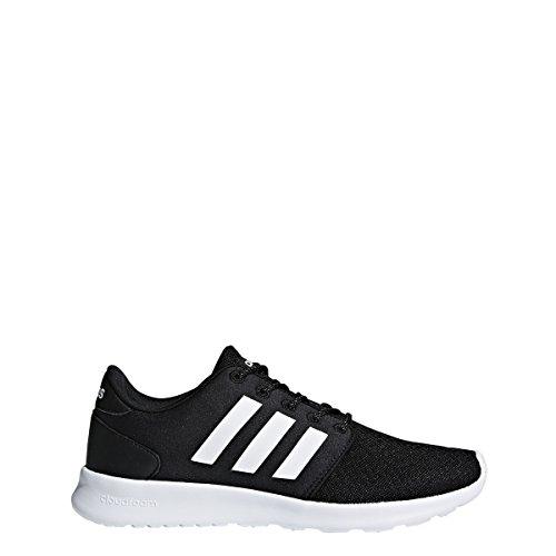 adidas Women's Cloudfoam QT Racer Running Shoe, Black/White/Carbon, 5 M US
