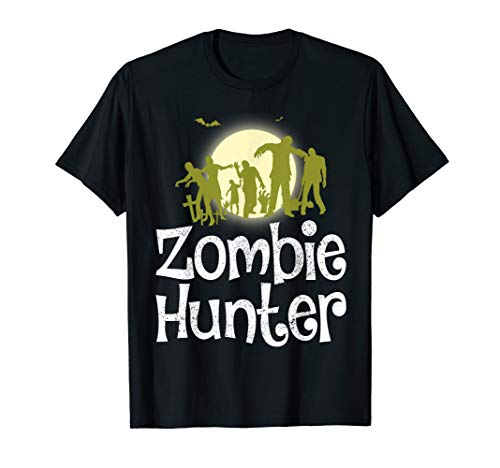 Halloween Zombie Hunter Bat T shirt Funny Gift Men Kids Boys]()