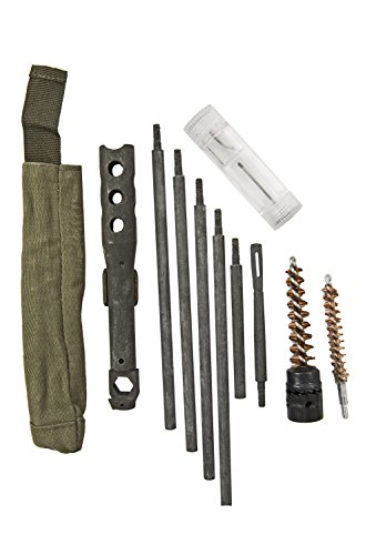 M14 Buttstock Cleaning Kit with Steel Cleaning Rod, Bore Brush, M14 Combo Tool, And More