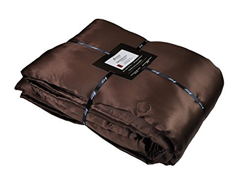 Chocolate Natural Comfort Imperial Silk Inside and Out Throw-Filling, Chocolate