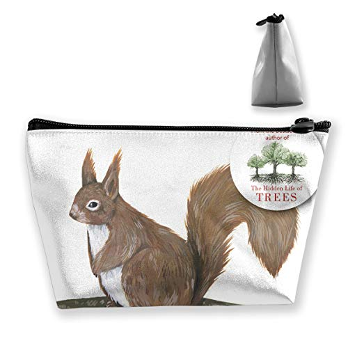Create Magic - Squirrel Makeup Toiletry Bag Travel Cosmetic Organizer Waterproof Multi-Purpose Storage Tote Tools Canvas Bag Cosmetic Makeup Bags Zipper