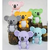 Japanese Iwako Eraser Set - Koala Bear (six colors)