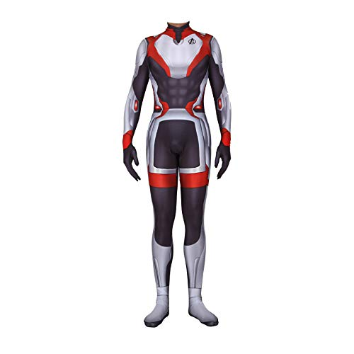 Unisex Lycra Spandex Zentai Halloween Avengers Endgame Quantum shirt Cosplay Costumes Adult/Kids 3D Style (Adults-M) Black and White -