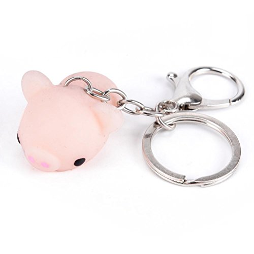 IYSHOUGONG 1 Pcs Kawaii Key Chain Pig Squishies Mochi Pendant Healing Toy Squeeze Keychain Stress Reliever Squishy - Pc 1 Keychain