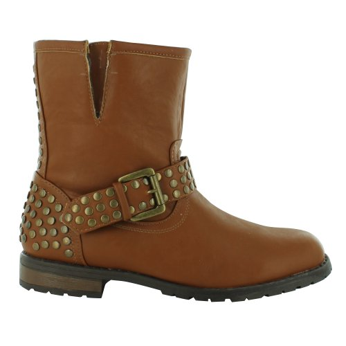 Footwear Sensation - Botas estilo motero mujer marrón - canela