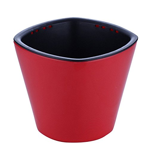 Gift Prod 2 Pcs Automatic Watering System Self Watering Planters Pots Containers Probes for Decoration of Home Office Desk Garden Flower Shop (Red)