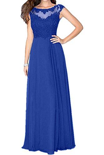 Lang Hundkragen Fuer Chiffon mia Blau La Braut 2018 Brautmutterkleider Formalkleider Royal Spitze Abendkleider Hochzeits TzTPqxYAw