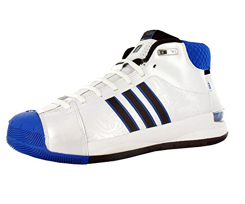 adidas Men's TS Pro Model Player Basketball Shoe,White/Blk/Satellite,15 M