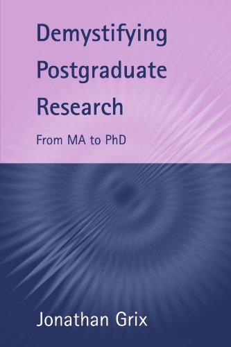 Demystifying Postgraduate Research
