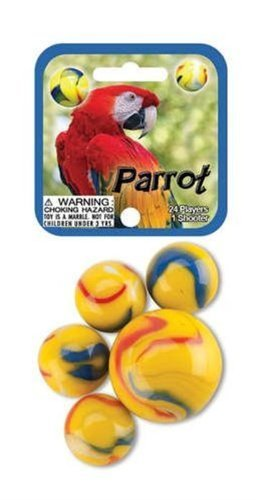 FS USA Glass Mega Marbles Parrot Game Net Set (25 Piece) from FS USA