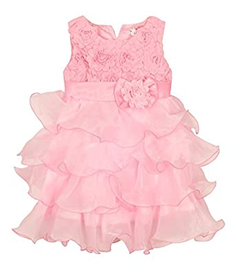 Luke and Lilly kids Party wear Princess Girls Frock - Baby Pink ... 5ea06d48215d