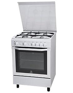 indesit cucina indesit 60cm 4f/gas fo.gas bianca: amazon.co.uk ... - Cucine A Gas Indesit