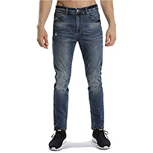 Men's Modern Comfort Stretch Skinny Fit Jeans, Dark Blue Stretch