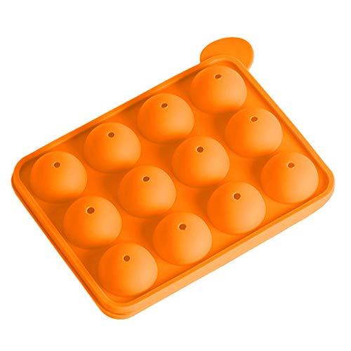 Iusun Biscuit Maker,Multifunction 12 Non Stick Embellisment Silicone Cake Baking Mould Cookies Press Cake Lollipop Decorator Pump Machine Kit Icing Syringe Kitchen Mold Tools Set (Orange)