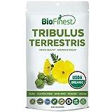 Biofinest Tribulus Terrestris Extract Powder (Gokshura, Gokharu) 1000mg/1500mg – for Men and Women – Organic Gluten-Free Non-GMO Kosher Vegan – Supplement for Energy, Focus, Strength Booster (250g)