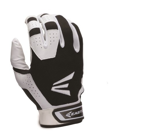 (Easton Youth HS3 Tee-Ball Batting Gloves, White and Black, X-Small)