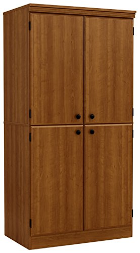 South Shore Tall 4-Door Storage Cabinet with Adjustable Shelves, Morgan Cherry ()