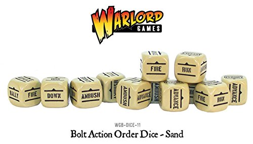 Sand Pack Of 12 Bolt Action Orders Dice