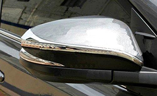 ABS cromo puerta lateral espejo retrovisor cubierta tira Trim 2pcs para RAV4 RAV 4 2013 2014 2015 2016: Amazon.es: Coche y moto