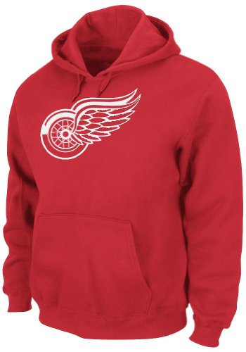 Detroit Red Wings Hoodie (NHL Men's Detroit Red Wings Heat Seal Long Sleeve Hooded Fleece Pullover (Athletic Red, Medium))