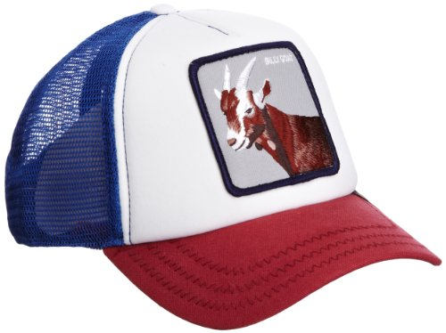 Goorin Bros. Men's Animal Farm Trucker Hat, Red/White/Blue Goat, One Size