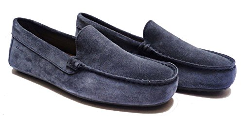 FRAU 31A0 Scarpe Casual da Uomo Mocassini in Camoscio Col. Jeans Fondo con Gommini, NUM. 42