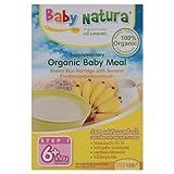 [JCh] Baby Natura : Organic Baby Meal Brown Rice Porridge with Banana 120g (2 Packs)