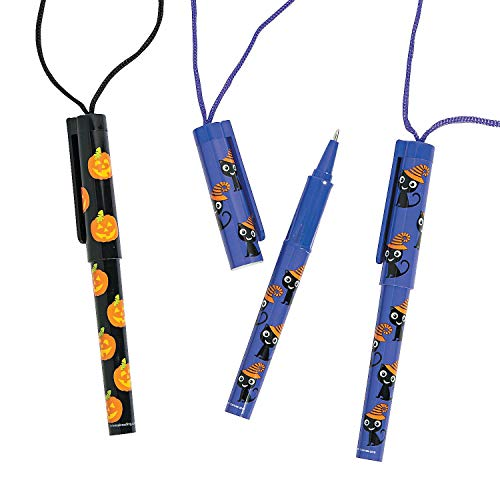 Fun Express Halloween Pen On A Rope - 12 Pieces