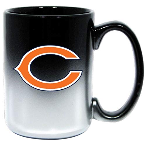 Two-Toned Ceramic Chicago Bears Memorabilia Glossy Graphics Printed Beverage Coffee Mug - Heavy-duty, Durable, Huge - 15 oz